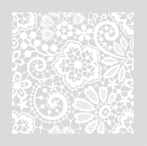 Victorian Lace on your floor or Wall Damask Allover Designer Pattern Stencil