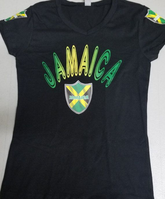 JAMAICA FLAG TEE by MIBIRTHRIGHTDESIGNS on Etsy