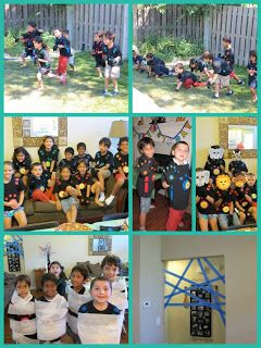 Wild Kratts games...Cheetah race, Kangaroo hop, Cocoon and Spider Web...the kids had a blast!