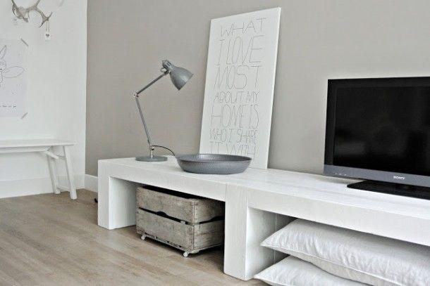 Tv meubel steigerhout 47 cm hoog Door alie.woudstra.9