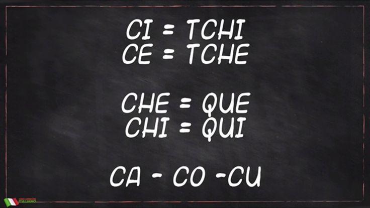 como pronunciar em italiano ci