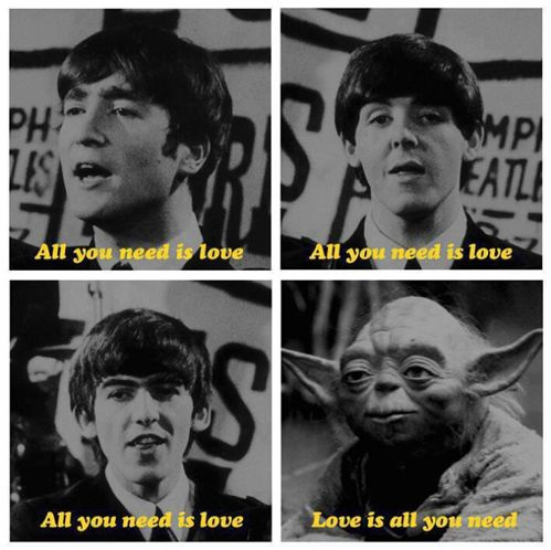 LOVE the Beatles! Star Wars, not so much, but the wordplay is cute. :)