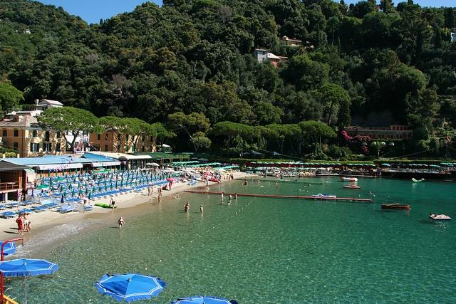 Paraggi beach near portofino liguria travel ✈ portofino