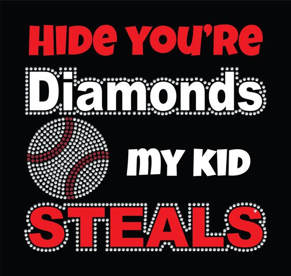 Hide your Diamonds Baseball TShirt by TShirtNerds on Etsy, $31.95 baseball mom, softball mom, baseball bling