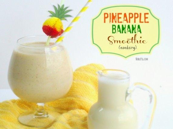 Pineapple Banana Smoothie (nondairy)