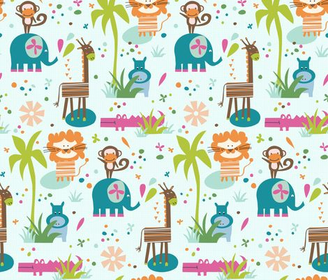 Funky Savanna ! fabric by demigoutte on Spoonflower - custom fabric