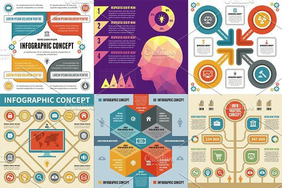 6 Infographic Concept by serkorkin on @creativemarket infographic template word infographic template powerpoint free editable infographic templates infographic template psd infographic template illustrator infographic timeline template infographic template google docs infographic generator