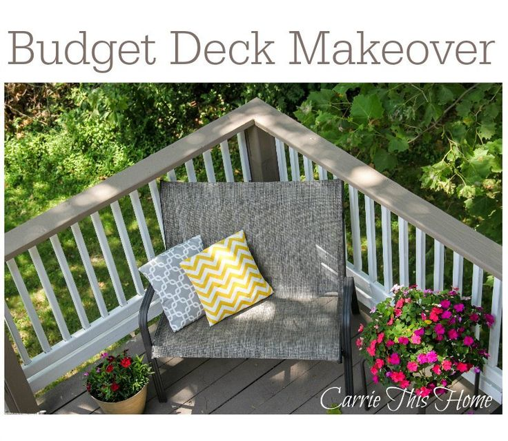 Budget deck makeover wood decks the o 39 jays and new life for Deck makeover on a budget