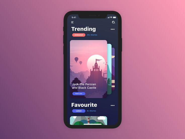 Story App Concept by Lahesh Kavinda