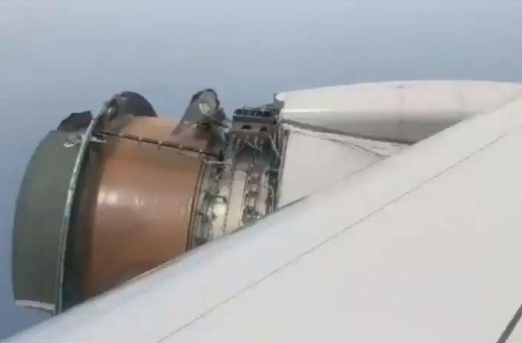 Σοκ στον άερα: Οι επιβάτες άρχισαν να ουρλιάζουν όταν έβλεπαν να ξηλώνονται κομμάτια του κινητήρα!(βίντεο)