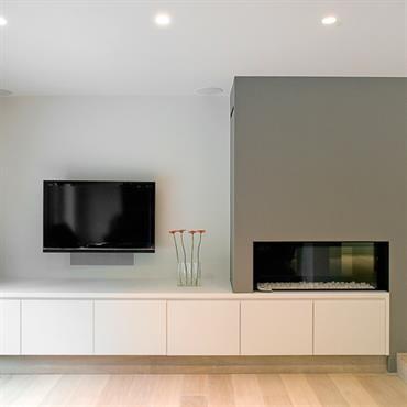 les 25 meilleures id es concernant relooking de chemin e. Black Bedroom Furniture Sets. Home Design Ideas