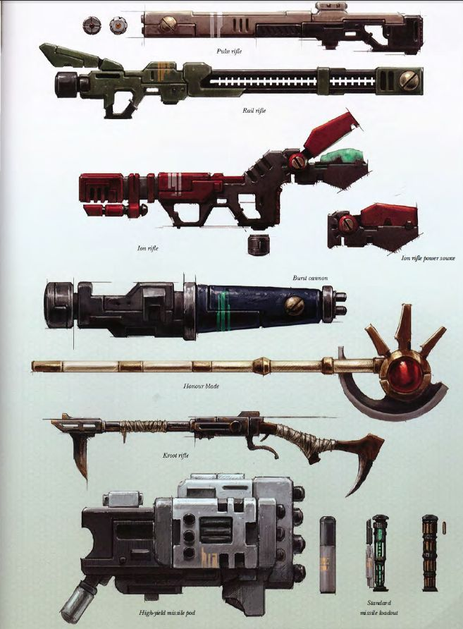 Xeno technology TAU Weapons