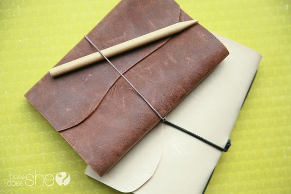 Reusable Nature Journal Tutorial and Template! Full instructions on creating your own leather bound sketchbook.