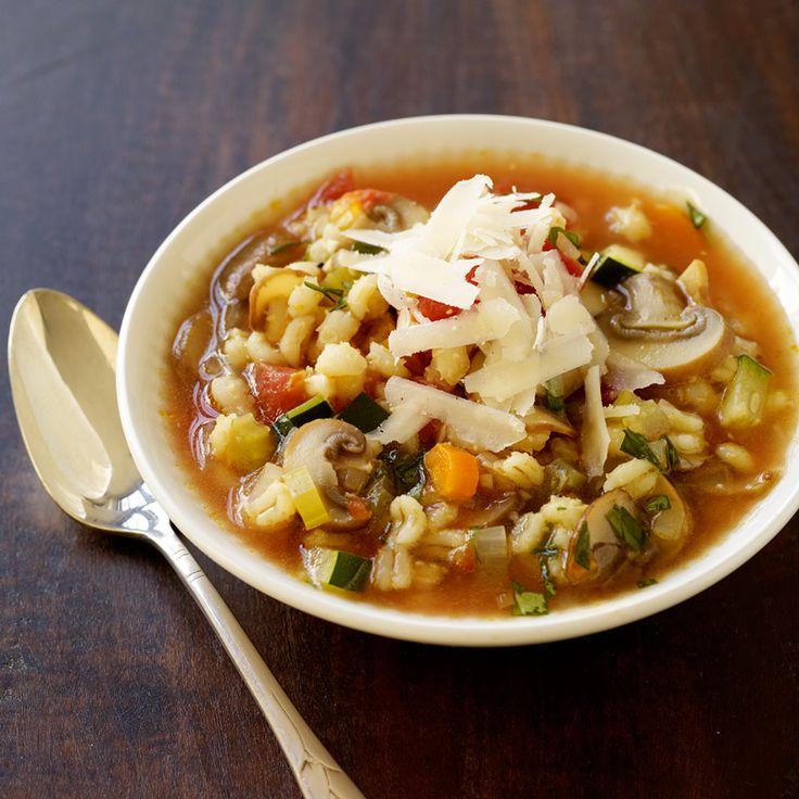 Italian-Inspired Vegetable Barley Soup | Healthy Recipes