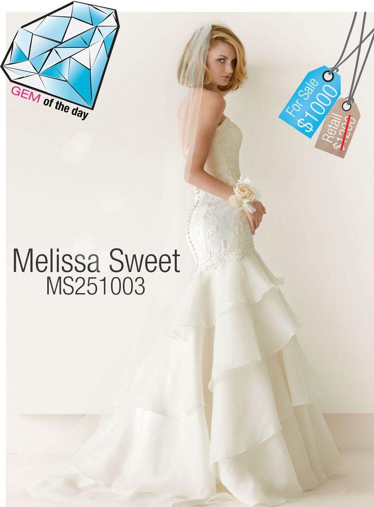 39 best gem of the day used wedding dresses images on for Melissa sweet short wedding dress