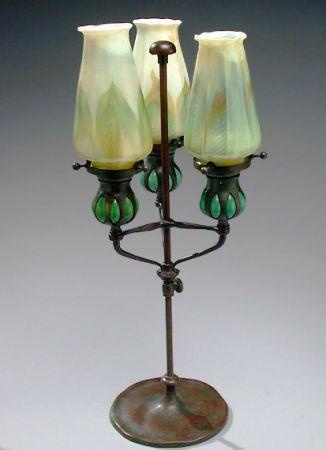 And bronze table lamp tiffany studios the shade with iridescent green - 213 Best Victorian Lamps Images On Pinterest Antique