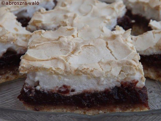 Kipróbált és bevált receptek ...: Habos meggyes sütemény