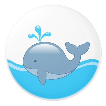 Cartoon whale 25 pinterest cute chubby cartoon whale in ocean ceramic knob animal gift ideas animals and pets diy negle Image collections