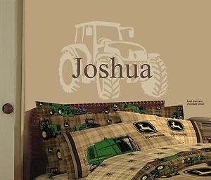 Large tractor vinyl sticker decal - customize to match your bedding or comforter