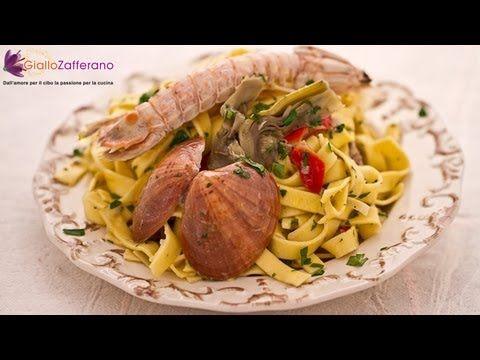 Tagliatelle con carciofi, polpa e sautè di fasolari - YouTube