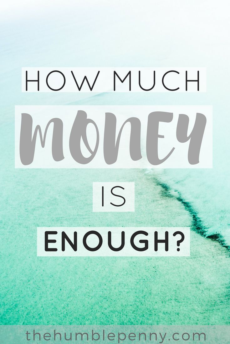How Much Money Is Enough? via @TheHumblePenny