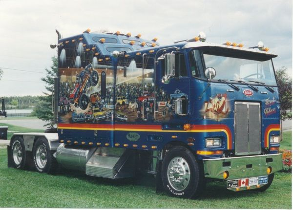 beauitiful customized big rigs | Lil Big Rig can turn your old pickup into a tiny semi truck, complete with dual axels out back, a sleeper cab (with back seats instead of a bed), and big chrome stacks. pinterest.com