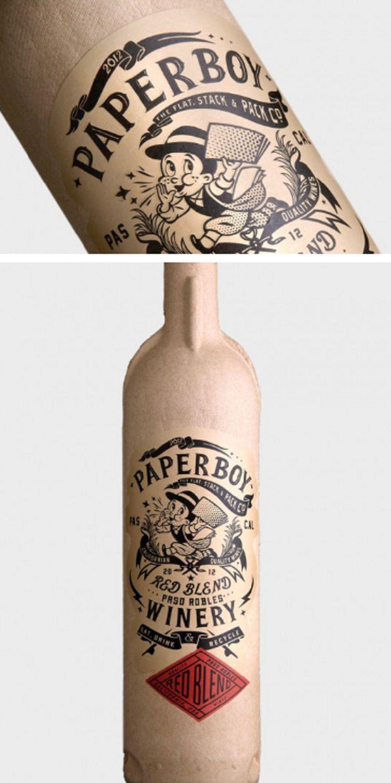 Paper Wine Bottle by Stranger & Stranger