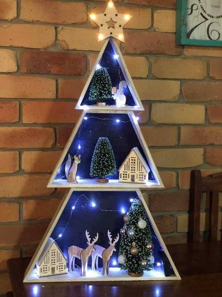 Pin By Jenny Rendell On Elf On A Shelf Office Christmas Decorations Creative Christmas Christmas Tree Box