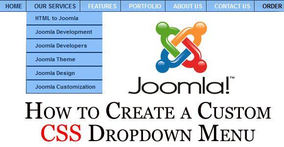 joomla how to create a submenu