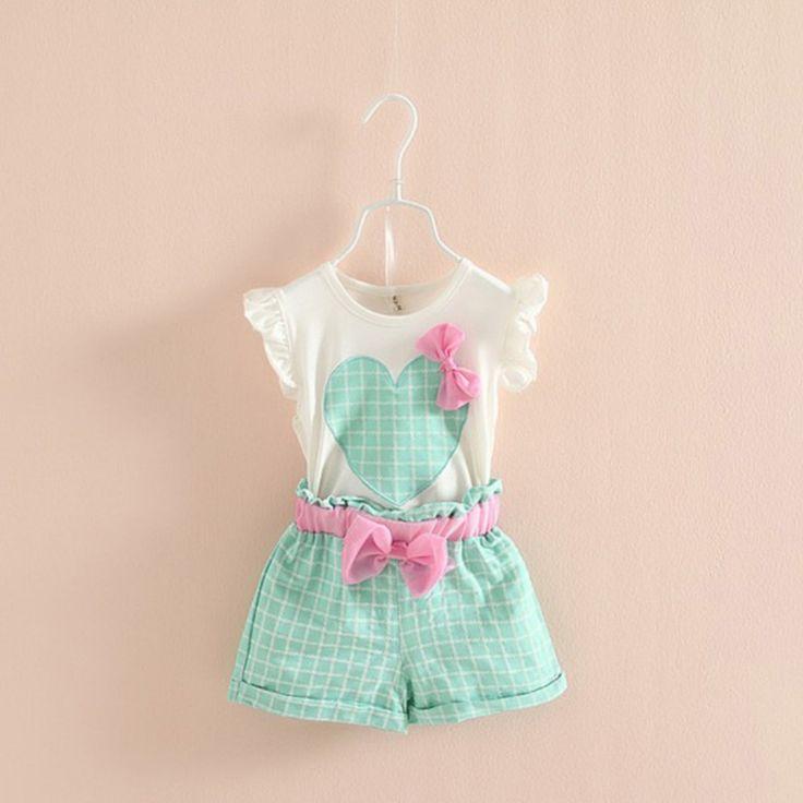 $5.30 (Buy here: https://alitems.com/g/1e8d114494ebda23ff8b16525dc3e8/?i=5&ulp=https%3A%2F%2Fwww.aliexpress.com%2Fitem%2FBaby-Kids-Girls-Sleeveless-Heart-Bow-Tops-T-Shirt-Plaid-Shorts-Outfits-Children-Sets%2F32789234923.html ) Baby Kids Girls Sleeveless Heart Bow Tops T-Shirt+Plaid Shorts Outfits Children Sets for just $5.30