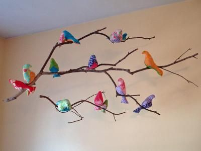 Love this! Pastel birds mobile - so perfect for a little girl's room. #pinparty