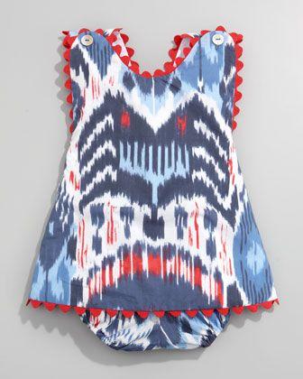 Oscar de la Renta Ikat Print Dress & Bloomers - Neiman Marcus