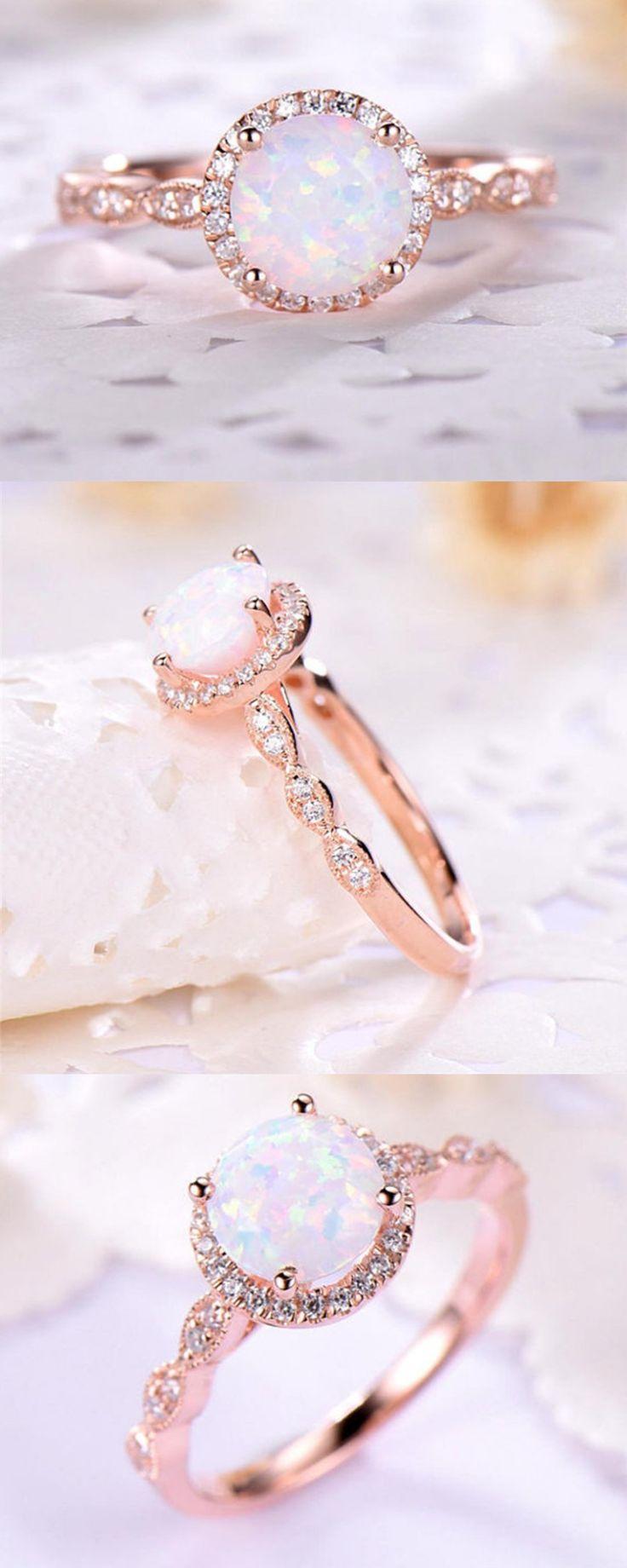 Fire Rose Opal Ring u00a0 u00a0*FREE WORLDWIDE SHIPPING*u00a0 Modern yet roma…