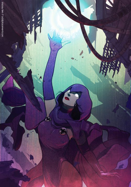 Uma bela ilustração da Ravena feita nada menos pela Dc Comics!