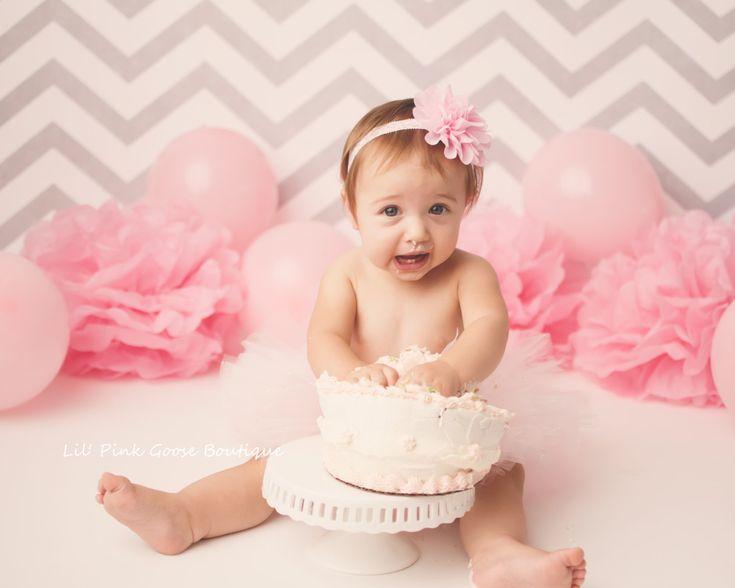 SMASH CAKE OUTFIT, Light Pink Tutu Set, Soft Pink Smash Cake Outfit, Newborn Tutu, 1st Birthday Tutu, Smash Cake Outfit, Baby Tutu, Tutu Set by LilPinkGoose on Etsy