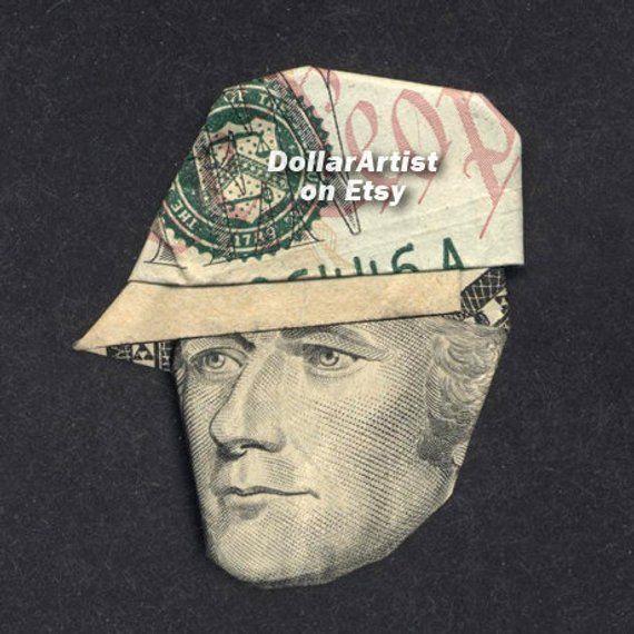 Alexander Hamilton W Baseball Cap Money Origami Art Dollar Etsy Money Origami Dollar Bill Origami Dollar Origami