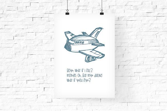 Cute Airplane quote Printable Art 8x10  Instant by FPD3sign