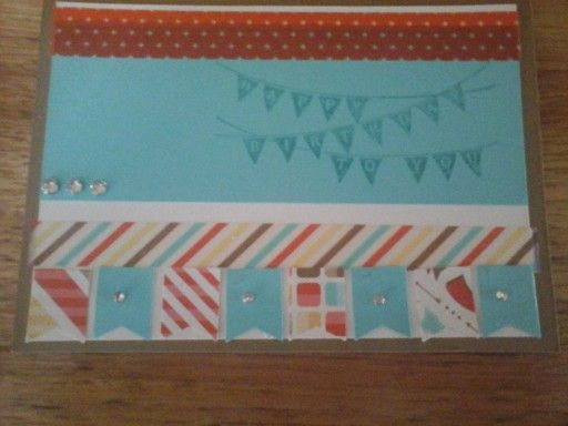 Happy Birthday Card using Stampin' Up Products!