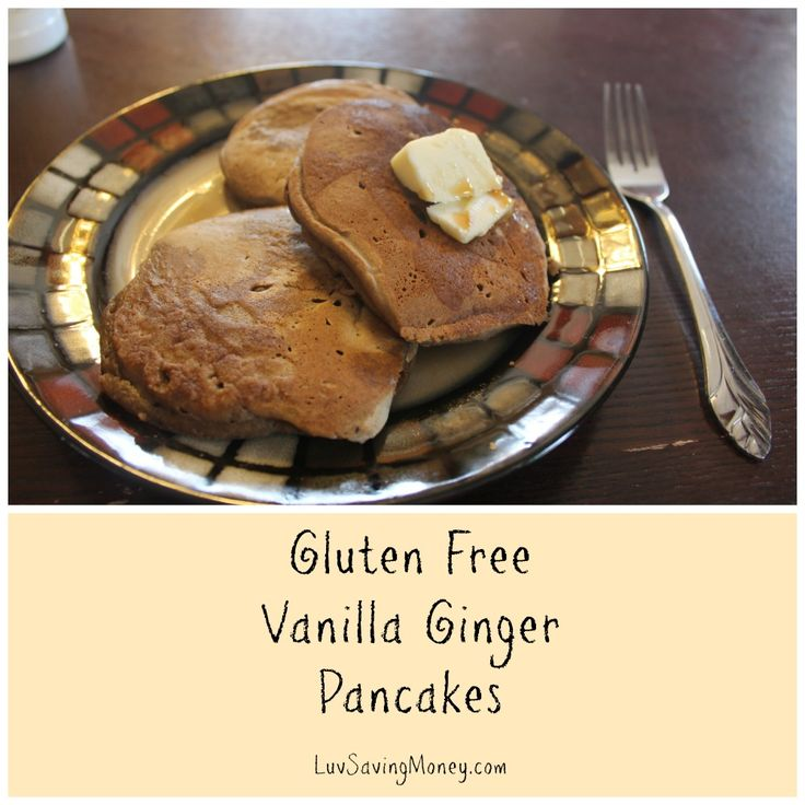 Gluten Free and low FODMAP friendly Vanilla Ginger Pancakes #recipe