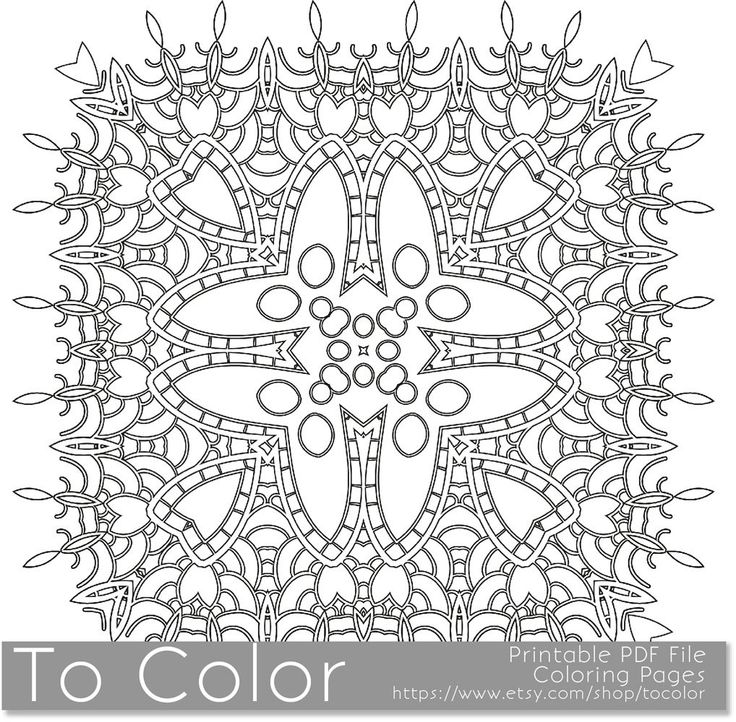 Grown Up Coloring Pages Pdf : Printable coloring pages for adults mandala snowflake