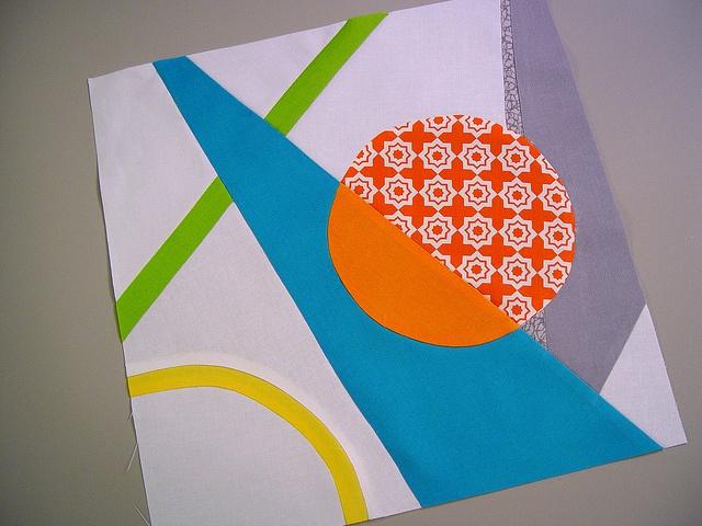 mod art quiltcon block, final by punkinpatterns, via Flickr