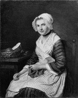 Jean-baptiste-simeon chardin young woman knitting