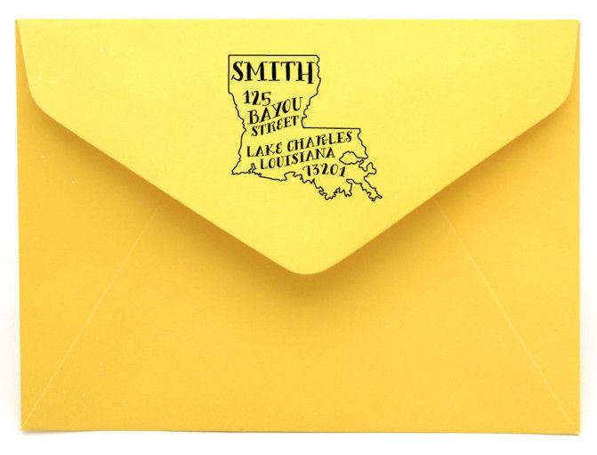 http://neworleanshamptoninns.com/ Personalized State Return Address Stamp on BourbonandBoots.com