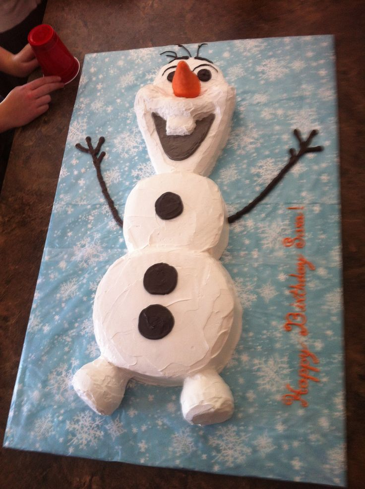 """I'll be a happy snowman!""  Olaf cake :)                                                                                                                                                                                 More"