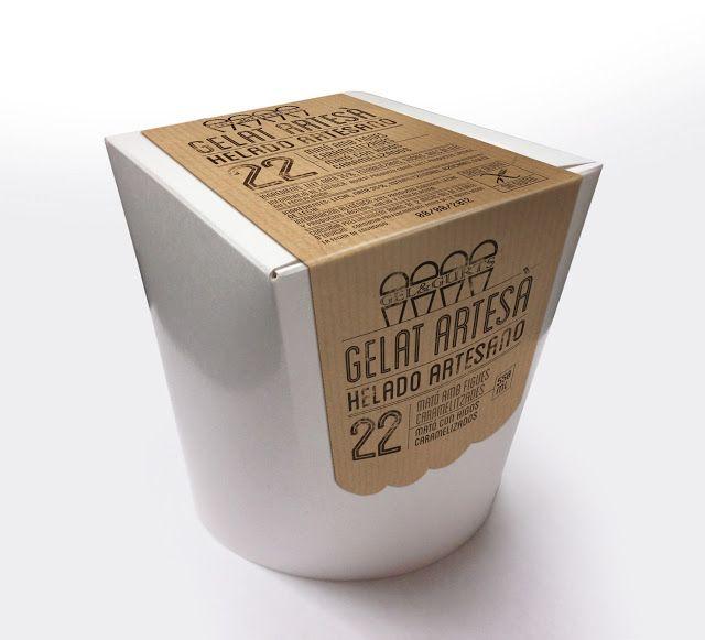 Gelat Artesà & Helado Artesano / Packaging for artisanal ice cream company. Designed by Socitetat de Disseny, Catalonia.