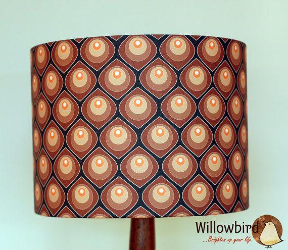 New Retro Lamp Shade 30cm (Retro Circles design)