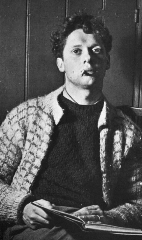 Dylan Thomas en su primer viaje a Nueva York, en 1950.