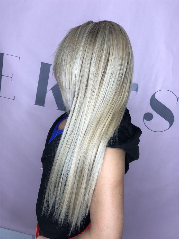 Ice blond balayage