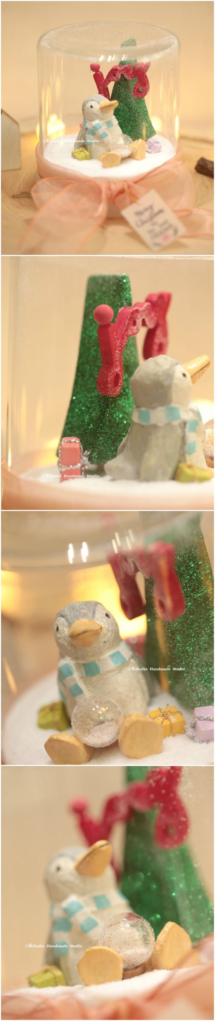 Merry Christmas,Happy Christmas,X'mas gift,Tiny message in a bottle,X'mas globe,Snow globe,Valentine Card,Gift for her/him,Girlfriend gift, cute penguin decoration and handmade gift ideas. #unique #handamdepenguin #christmascard #X'mascard #holidaycard #winter #custom #glitter #christmastree #sculpted #homedecor #deskdecor #messagecard #art #handpainted #christmasdecoration #season'sgreeting #joy #kikuikestudio #聖誕 #Noël #クリスマス #Navidad #Natale #ペンギン #Pinguin #manchot #企鵝