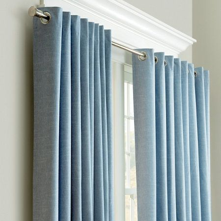 chambray insulated curtain pair